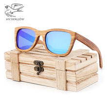 New fashionable bamboo sunglasses, zebra frame TAC lens, UV400 men driving sunglasses, women traveling and playing glasses fashionable blue polarized lens bamboo frame sunglasses