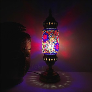 Image 4 - New style Turkish mosaic table Lamp vintage art deco Handcrafted lamparas de mesa Glass romantic bed light lamparas con mosaicos