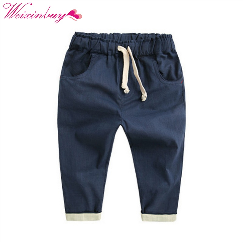 Boy Harem Long Pants Fashion Toddlers Casual Loose Trousers Summer Bottoms