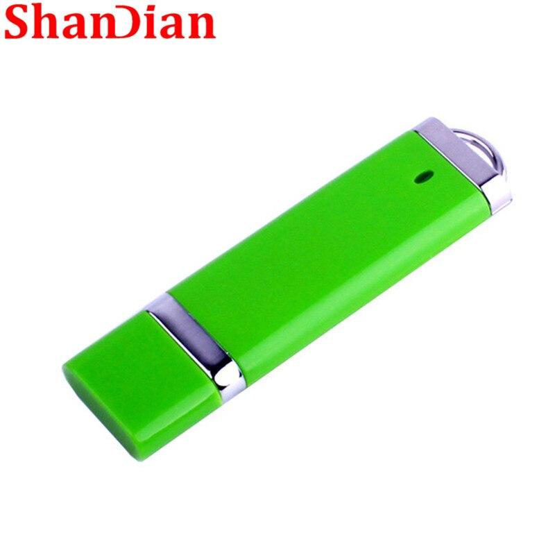 SHANDIAN 4 Color Lighter Shape Pen Drive 4GB 32GB 16GB 64GB USB Flash Drive Thumb Drive Memory Stick Pen Drive 64GB  Gift