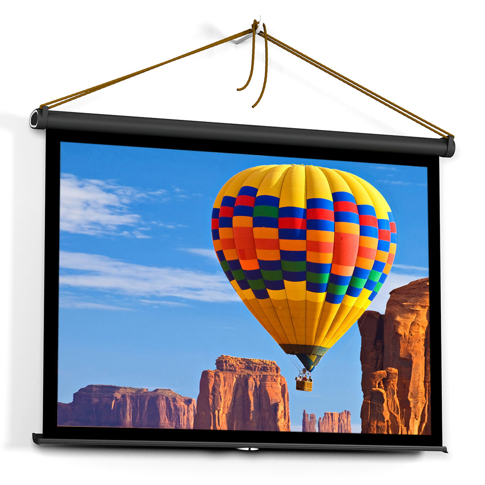 40-inch HD Projection Screen Manual Pull Up Folding Tabletop Projecting Screen Aspect Ratio 4:3 Portable Projection Screen