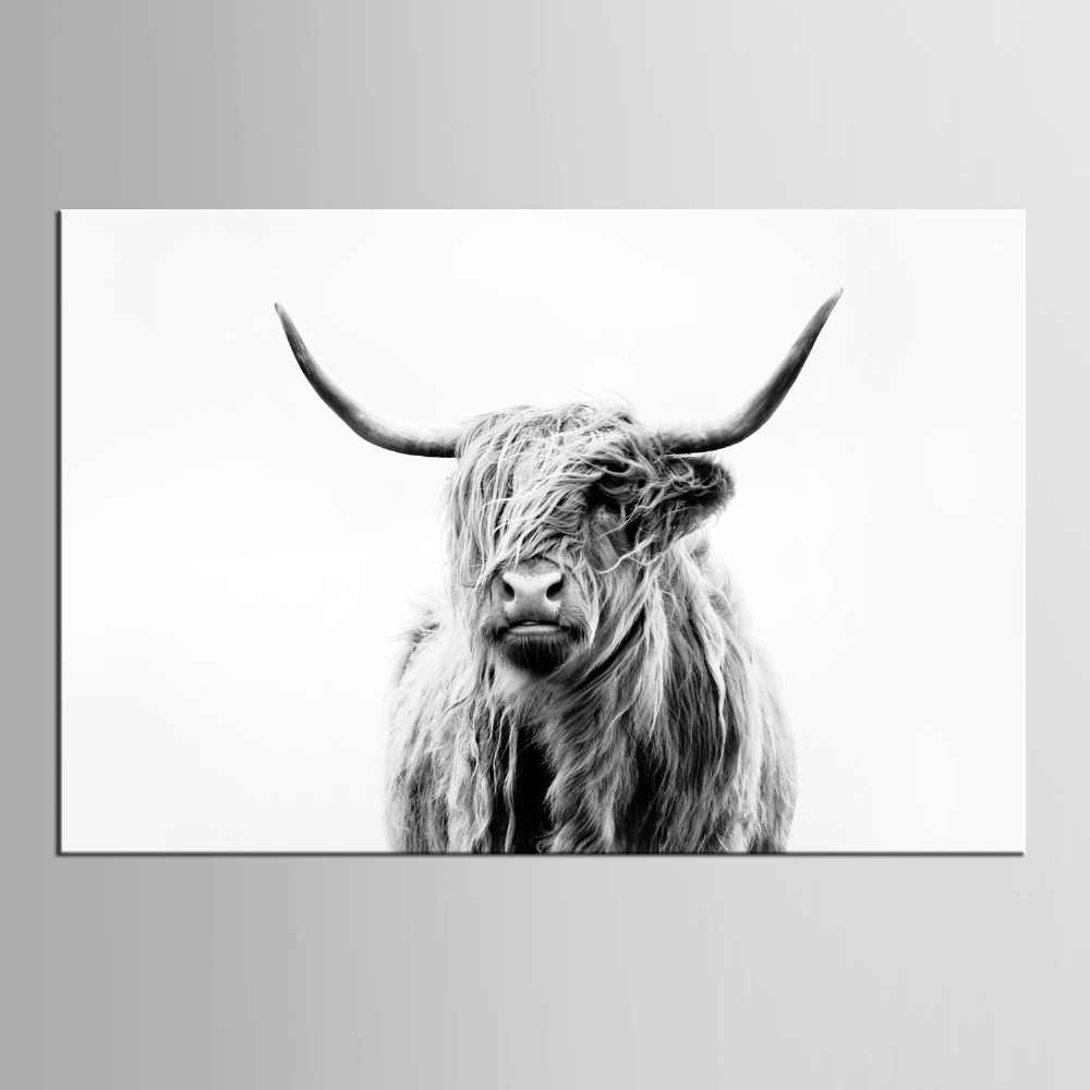 1 panel Paintings Wall Painting Cow Picture on Canvas Abstract Home Decor Animals Oil Painting Pictures