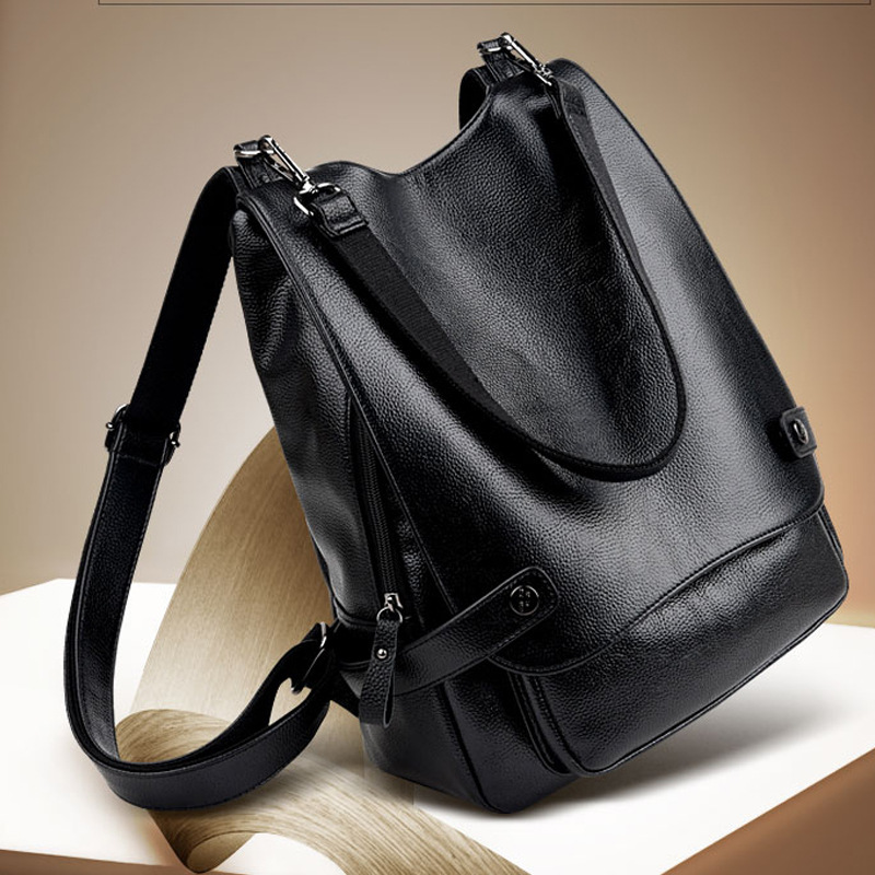 Korean version of Genuine Leather backpack women luxury brand women's casual travel bag compound Cowhide women bags hot sale women s backpack the oil wax of cowhide leather backpack women casual gentlewoman small bags genuine leather school bag