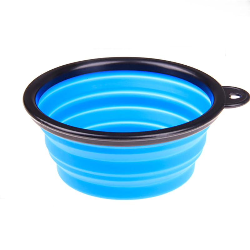Pet Dog Feeding Bowl Dog Water Dish Cat Portable Feeder Small Dogs Silicone Puppy Pet Travel Bowls Colorful Freeshipping 049 New