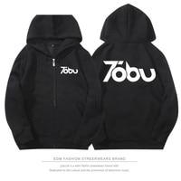 2017 Tobu DIY printing Rock Band Schwermetalle Hoodies Männer/Frauen Mode-stil Kappe Reißverschluss Sweatshirt kpop S-3XL Plus größe