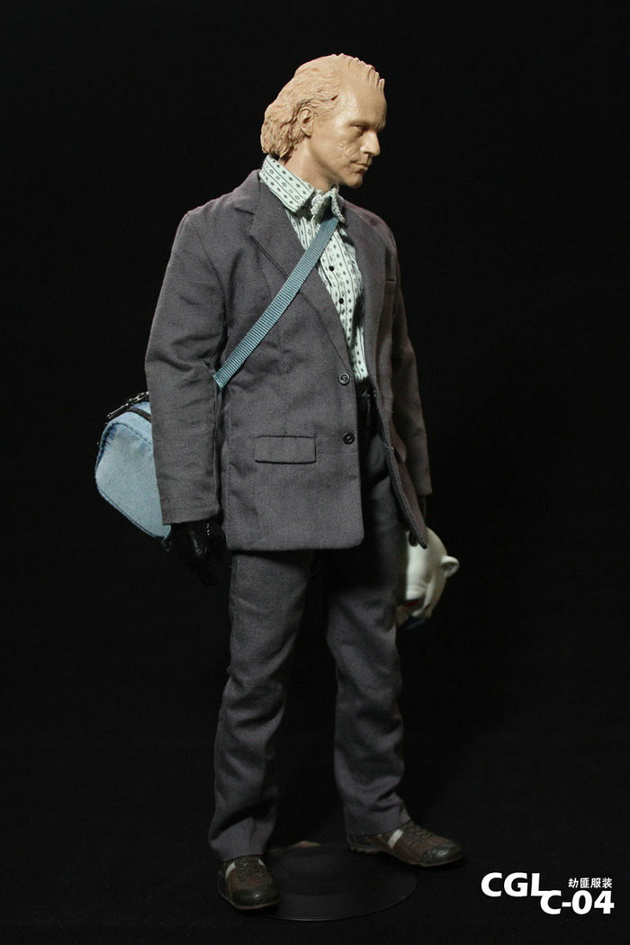 Custom 1//6 Scale Joker Robber Suit Outfit With Mask and Hands For Hot Toys Body