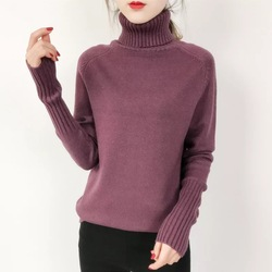 OHRYIYIE Women Turtleneck Winter Sweater 2019 New Khaki Beige Long Sleeve Knitted Pullovers Female Jumper Tricot Tops Pull Femme 4