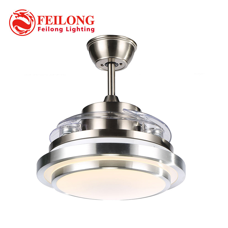 New arrival LED Retractable Ceiling Fan Y4203 Energy Saving Remote Control Fan CEILING FANS with folded blades ...