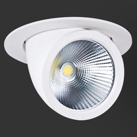 LED Downlight 35W 45W Ceiling DownLight Dimmable Adjustable Rotatable LED Trunk Light Gimbal Ac85 265v Direction LED Spot Light