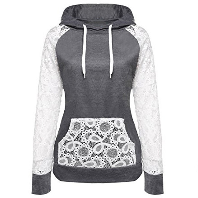 professionnel disponible le magasin € 14.4 41% de réduction|Feitong Femme À Capuche Dentelle Streetwear  Confortable Garder Au Chaud Femmes Manteau Sweat Shirt Coréenne Sudaderas  De Mujer ...