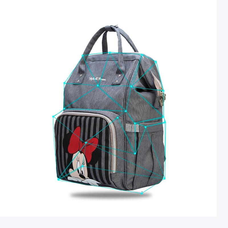 Diaper Bag Backpack  Maternidade  Waterproof Stroller Bag  Baby Bottle Warmer Mickey Minnie Travel  Backpack  baby bags for mom