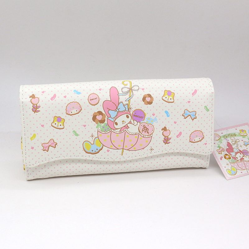 Free Shipping Genuine My Melody Purse Money Fashion Medium Long Wallet Male High Quality PU And High Capacity