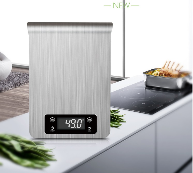 Kitchen No 1: 5kg/1g Food Diet Digital Kitchen Scale Stainless LED