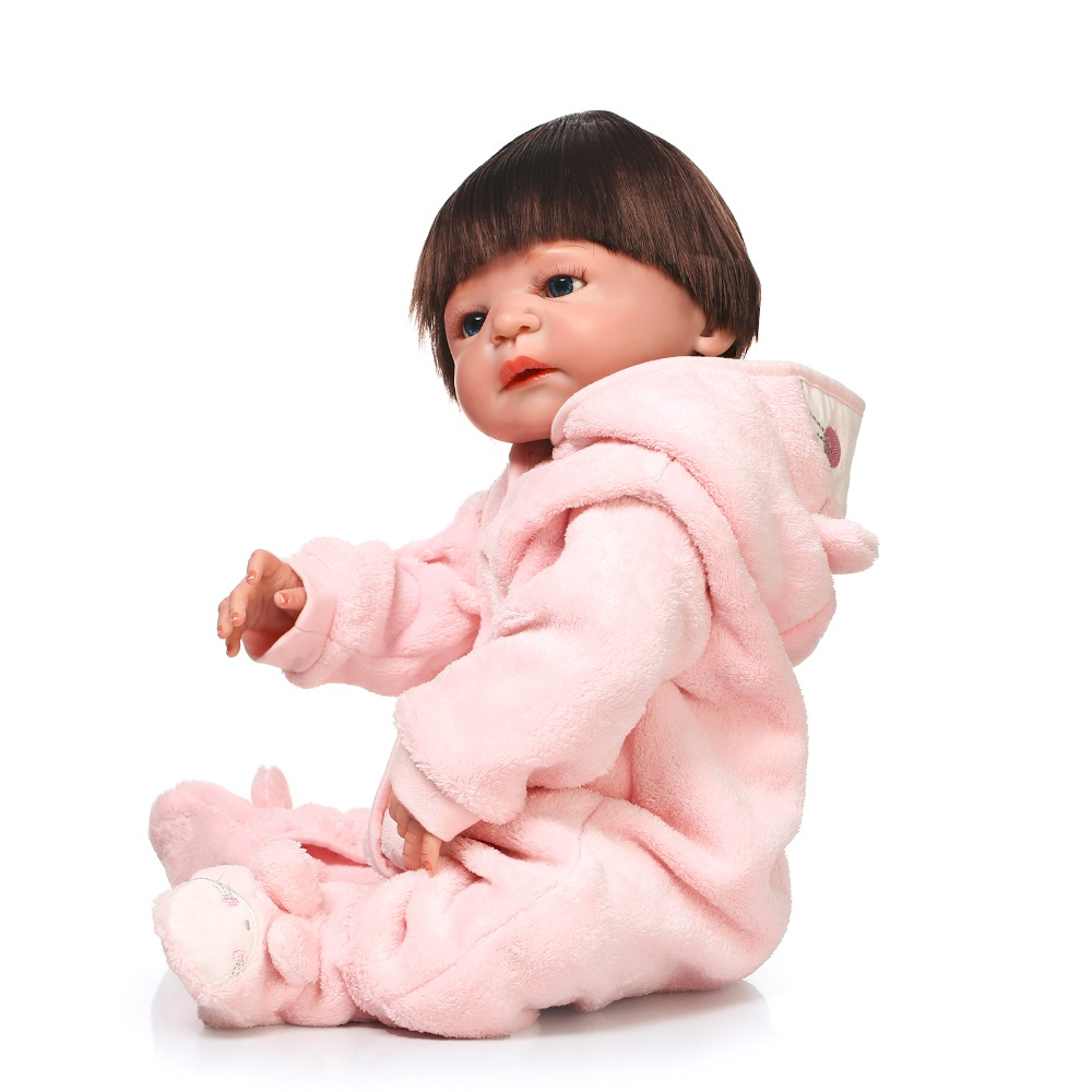 56cm Full Vinyl Silicone Reborn Dolls With Lovely Big Eyes,Doll Clothes And Accessories Vinyl Baby Dolls For Child's Best Gifts dolls and accessories