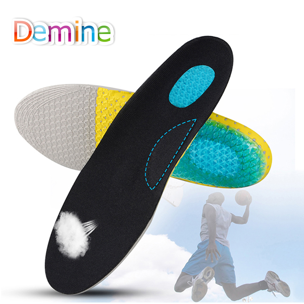 Demine Unisex EVA Foam Arch Support Sport Shoe Pad Shock absorption Running Cushion Insoles Plantar Fasciitis Pain Relief Insole socomfy breathable eva sports insoles men and women light soft sport running shoe pad relief pain shock absorption insole