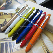 7 Colors Roller Ball Pen Jinhao 159 Black Silver Clip Live Large and heavy metal gift pen Taipan office luxury jinhao roller ball pen hollow steel golden dragon and phoenix married couple gift