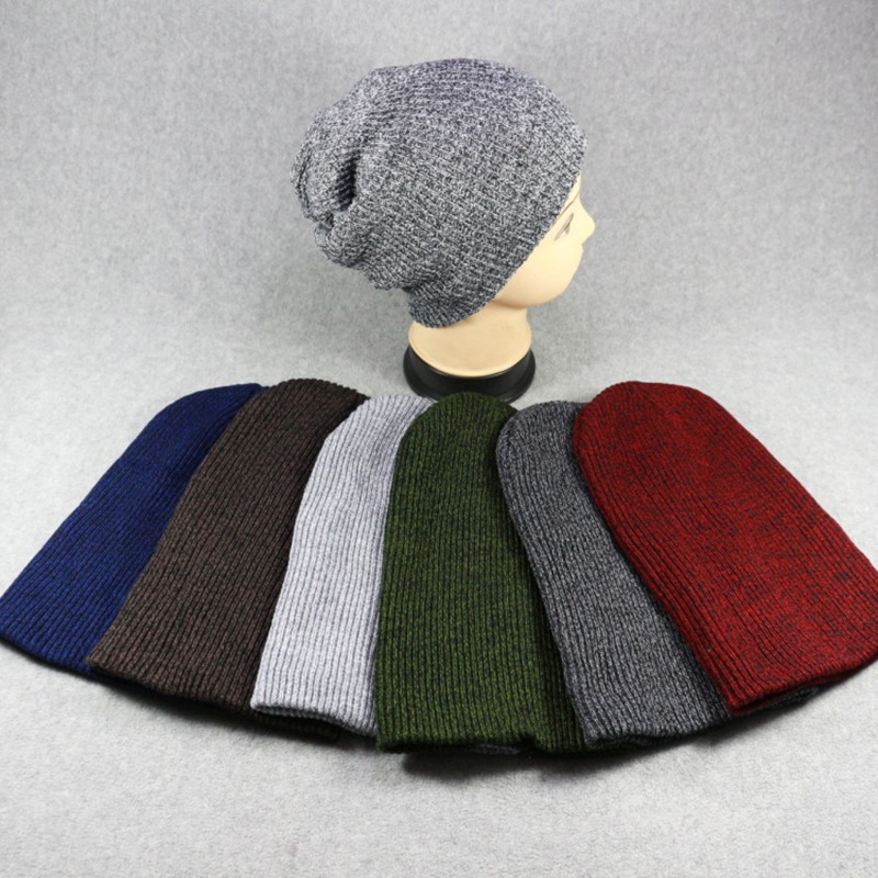 WZCX 2019 New Solid Color Unisex Autumn Winter Knitted Hat Vintage Keep Warm Stripe Casual Tide Adult Cap Beanie(China)