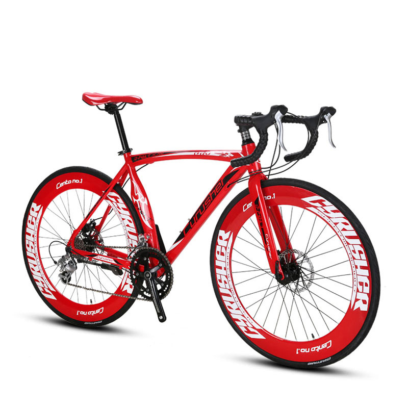 Cyrusher XC700 Sports Racing Road Bicycle 16 Speeds 700C 54/56CM Light Aluminum Frame Pro Mens Road Bike Mechanical Disc Brakes