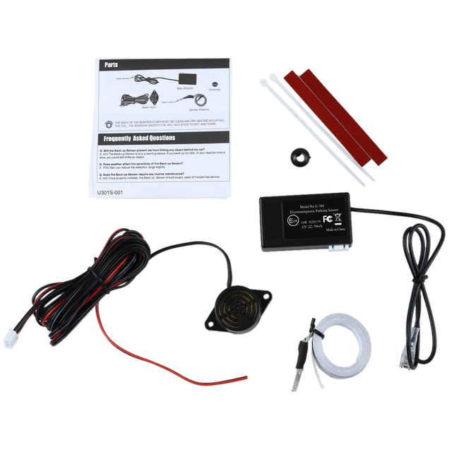 TOYL No Drills Holes Invisible In Bumber Electromagnetic Rear Parking Sensor Kit -UK