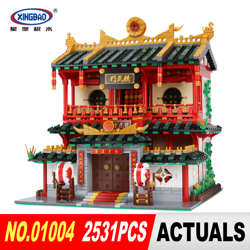 New XingBao 01004 2531Pcs Block Genuine Creative Building Series The Chinese Martial Arts Set Building Blocks Bricks DIY Toys