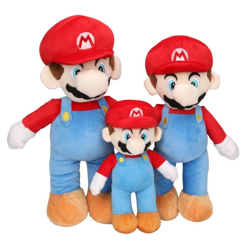 """2PCS/Set Super Mario Plush Toys LUIGI & MARIO Doll Stuffed Animals Toy 10"""" 25cm/14"""" 35cm/17"""" 43cm"""