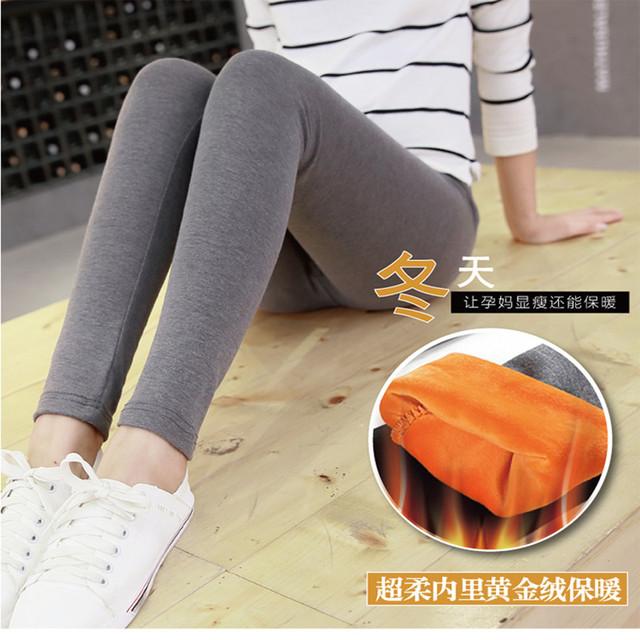 Inverno de veludo Engrossado Leggings Maternidade Calças Roupas Para Grávidas roupa de maternidade gravidez roupas leggings mulheres