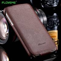 Lychee Skin Genuine Real Leather Flip Case For Samsung Galaxy S5 I9600 Cover Accessories Fashion Retro