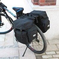 À prova dwaterproof água assento traseiro saco de bicicleta sacos tronco 50l bicicleta panniers saco sela com capa chuva para viagem acampamento