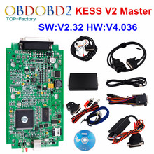 HW V4.036 V2.32 KESS V2 OBD2 Gerente Sintonia Kit Mestre Versão ECU Tuning Chip Ferramenta KESS V2 Sem Tokens Limitada ECM_Titanium SW