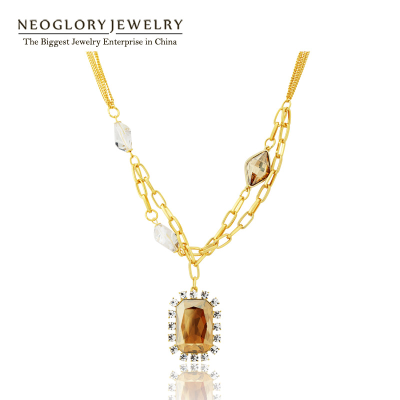 b383fdc58d07 Neoglory 2017 nuevo made with swarovski elements crystal rhinestone  amarillo claro color oro ...