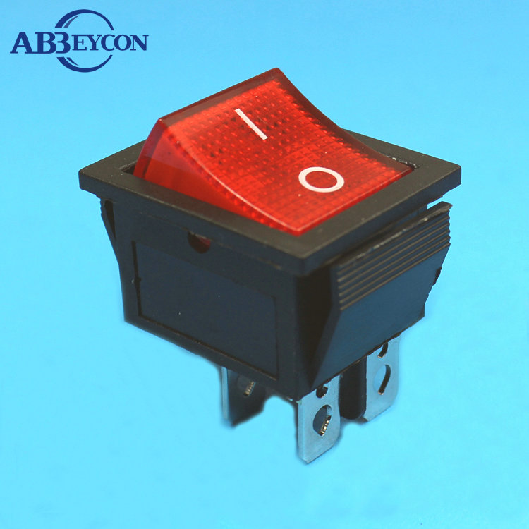 RS345 famous brand Abbeycon light illumination 4pin on-off round rocker switch t85 number
