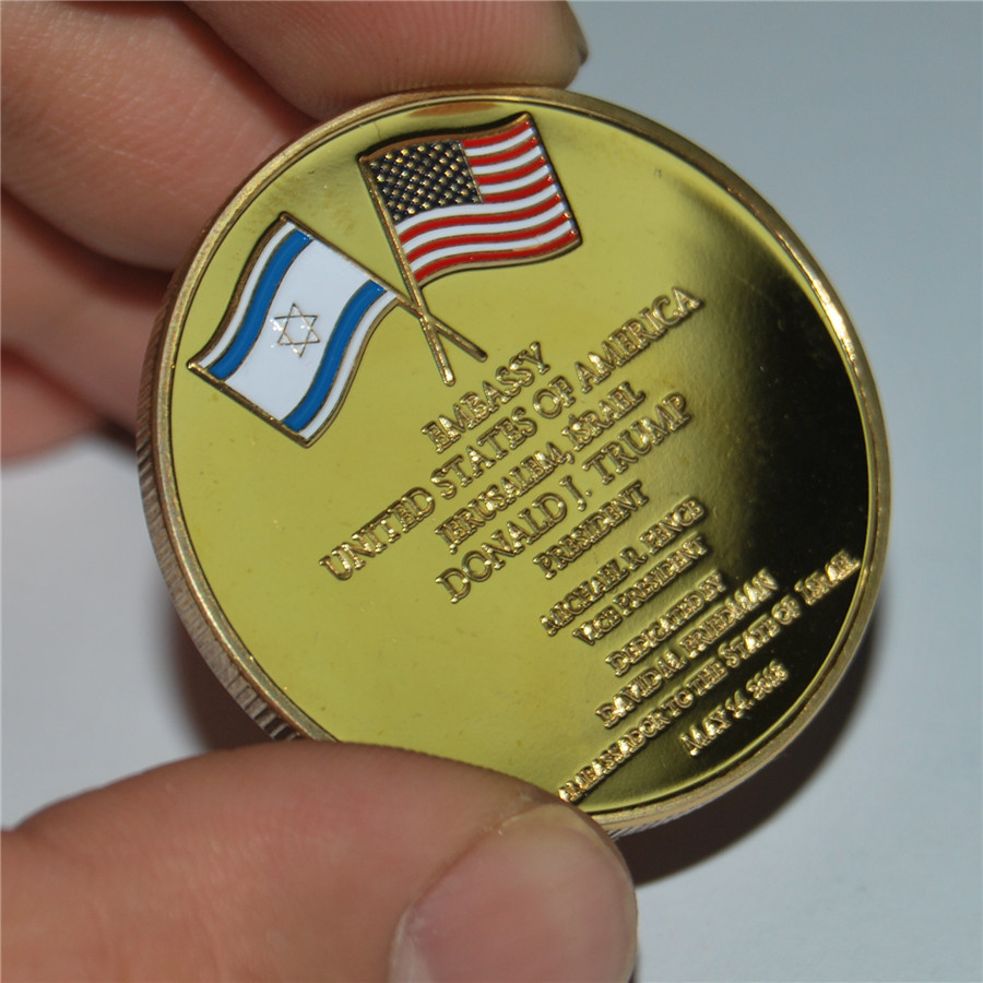 United States Embassy Jerusalem Israel Challenge Coin - Dedicated May 14, 2018 (17)