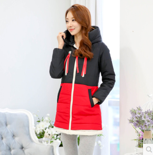 2016 New Thicken Long Hooded Winter Jackets Womens  Down Cotton Parkas Winter Coats Women