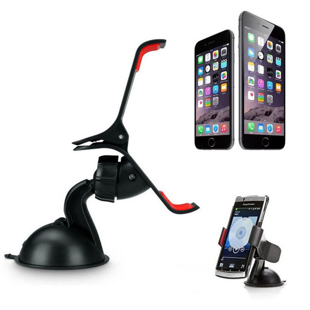 Malloom Universal Car Styling Windshield Mount Stand Mobile Phone Holder For iPhone 4 5 5s 6 6s Plus For Samsung Smart Phone GPS