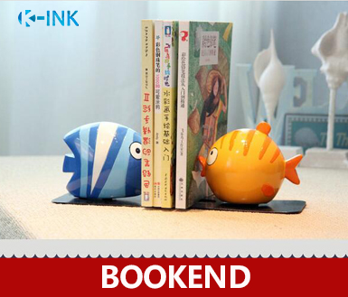 Creative Fish Shaped Book End , Novelty Fish Home & Office Bookshelf Bookends as Book Organizer , Desktop Book Stand creative book shaped wired telephone green