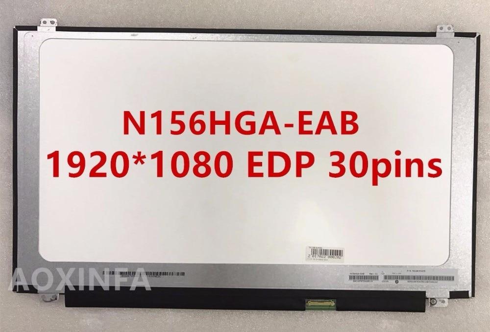 Free Shipping New original N156HGA-EAB 1920 * 1080 EDP 30pins interface free shipping lp140wf3 spl1 lp140wf3 spd1 lp140wf1 spb1 n140hce eaa n140hge eab laptop lcd screen 1920 1080 edp 30pin