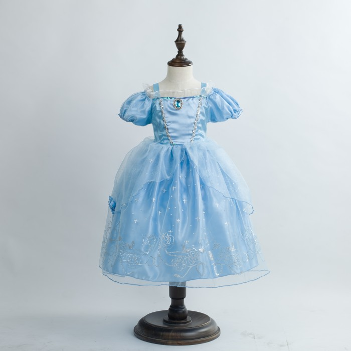 Cinderella in stock ! EMS DHL Free shipping Cinderella little girls kids Princess cosplay Halloween Holiday Party dress dhl ems 5 lots new in box om ron e2e x4md1 m3g z e1