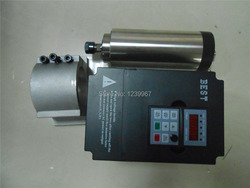 1.5KW chłodzony powietrzem silnik wrzeciona 24000 obr/min 220 V 5A 400Hz 0.91NM ER11 D80mm GDZ80-1.5F i 2.2KW VFD falownik i uchwyt