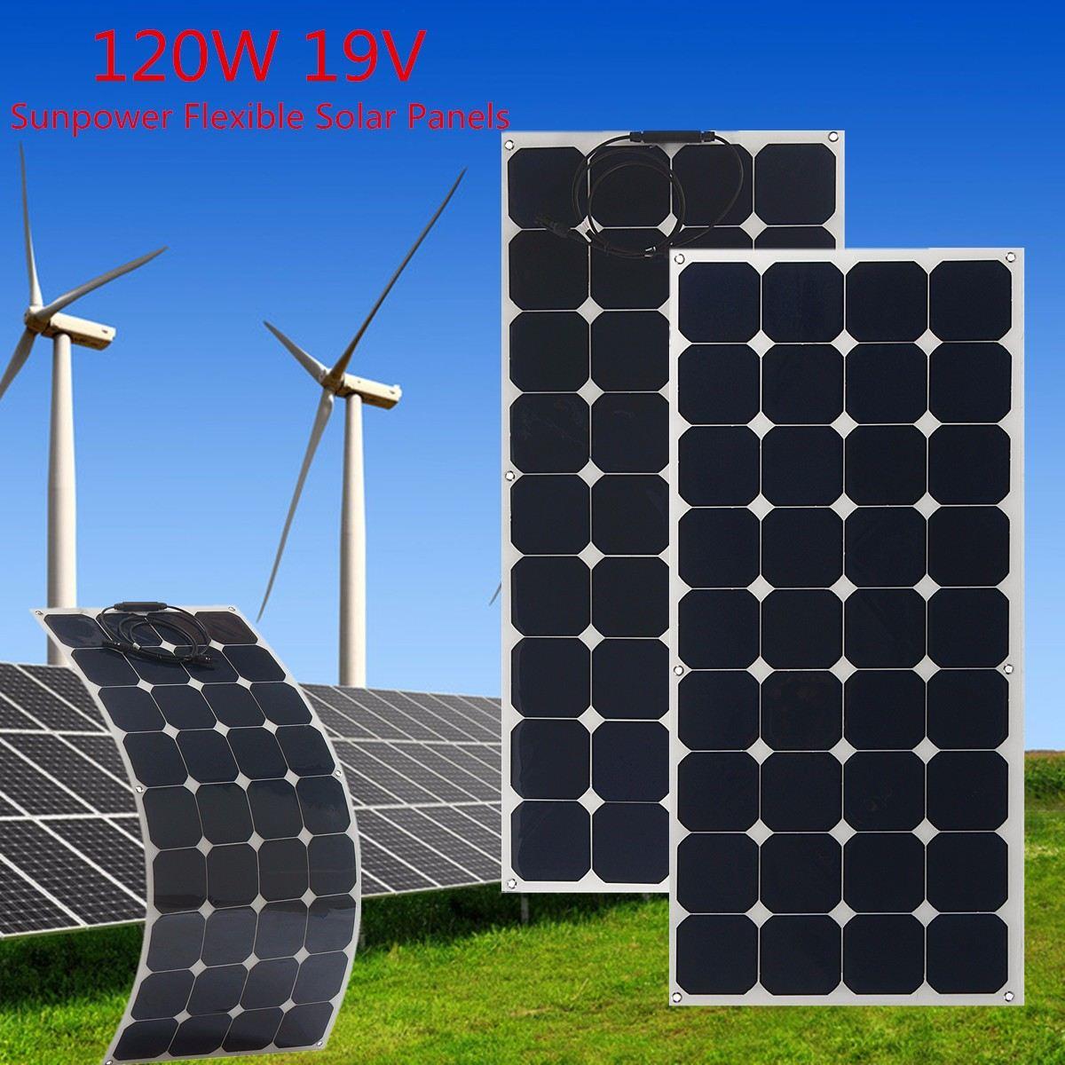 KINCO SP-27 120W/19V Semi-Flexible Solar Panel Monocrystalline Silicon Solar System Power Supply For Car Battery Charger стоимость