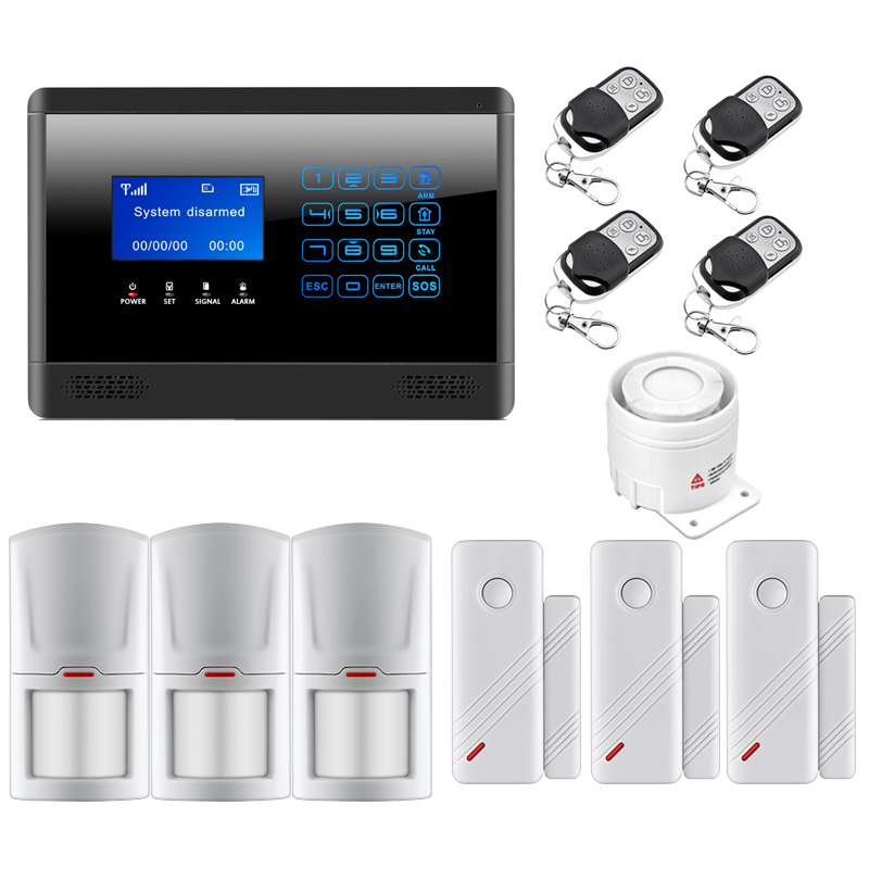 Intelligent Wireless GSM SMS Burglar Alarm system Touch Keypad Home House Security Inturder Alarm System Without Antenna kerui black white intelligent wireless gms sms call home burglar intruder ios android app security alarm system touch keypad