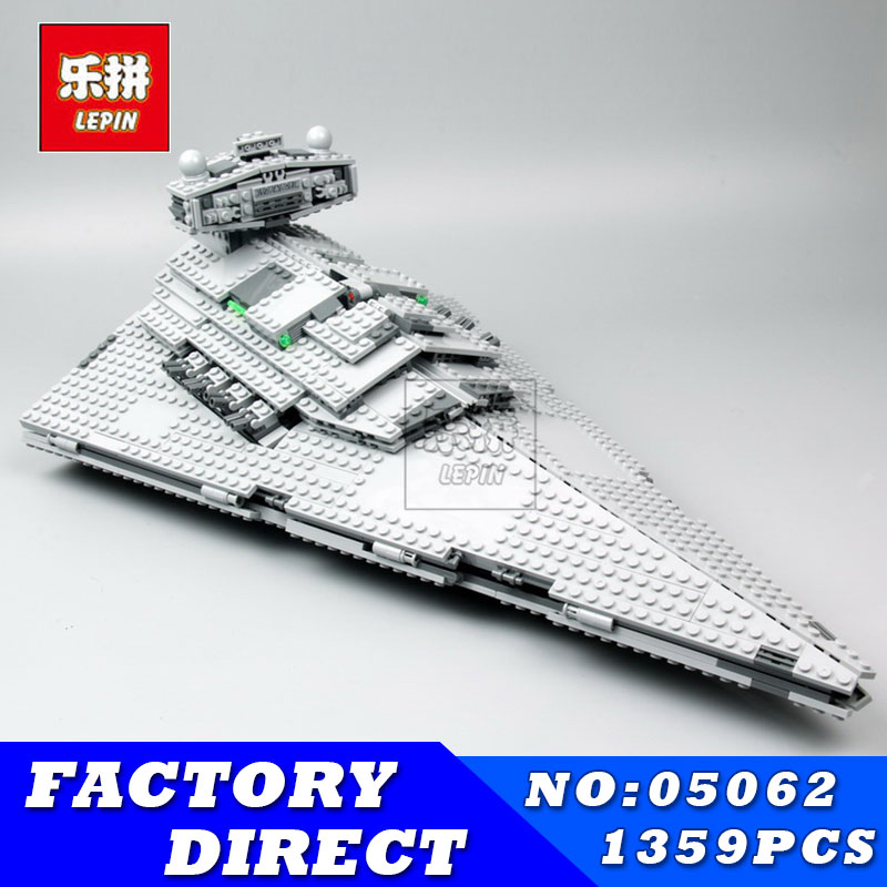 LEPIN 05062 1359pcs Super Star Series Wars Imperial Fighting Destroyer Set Building Blocks Bricks Children Toys Compatible 75055 lepin 05062 genuine star series wars the star model destroyer set legoing 75055 building blocks bricks educational toys for gift