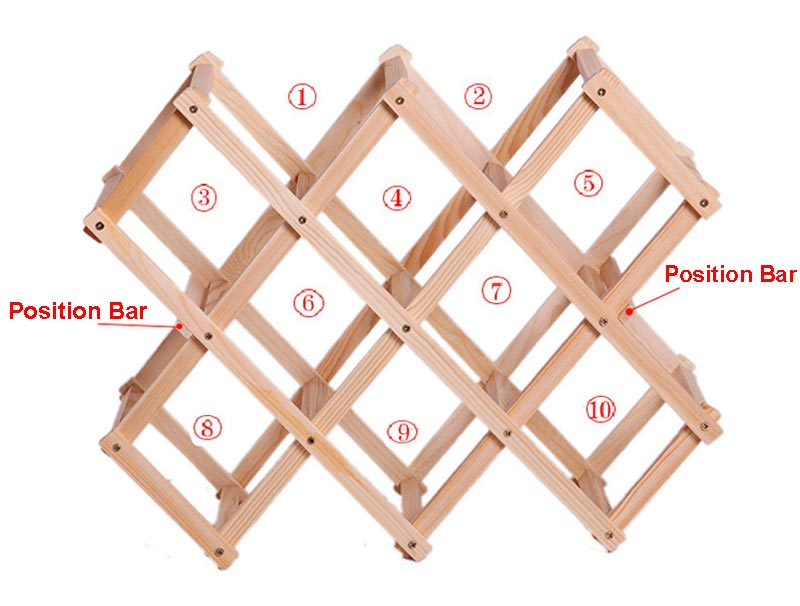 10 Bottles Luxury Wood Wine Rack Wooden Holder Display Sheelf for Red Wine Whisky Foldable and High Quality in Wine Racks from Home Garden