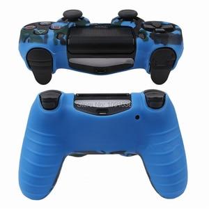 Image 5 - Camouflage Zachte Siliconen Cover Case Bescherming Skin Voor Sony Playstation 4 PS4 Voor Dualshock 4 Controller Voor Ps4 Pro Slim