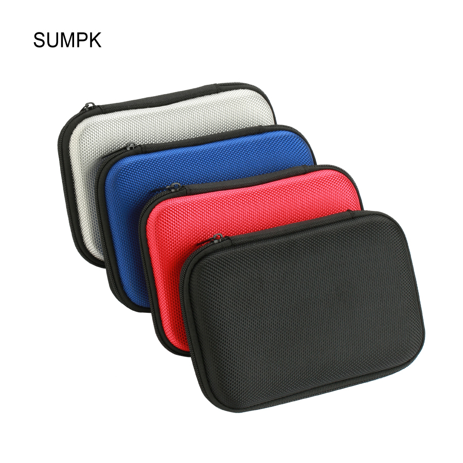 SUMPK 2pcs/lot 160x110x35mm External Battery Cases Portable EVA Mobile Power bank Storage Case Shockproof  Carrying Bags