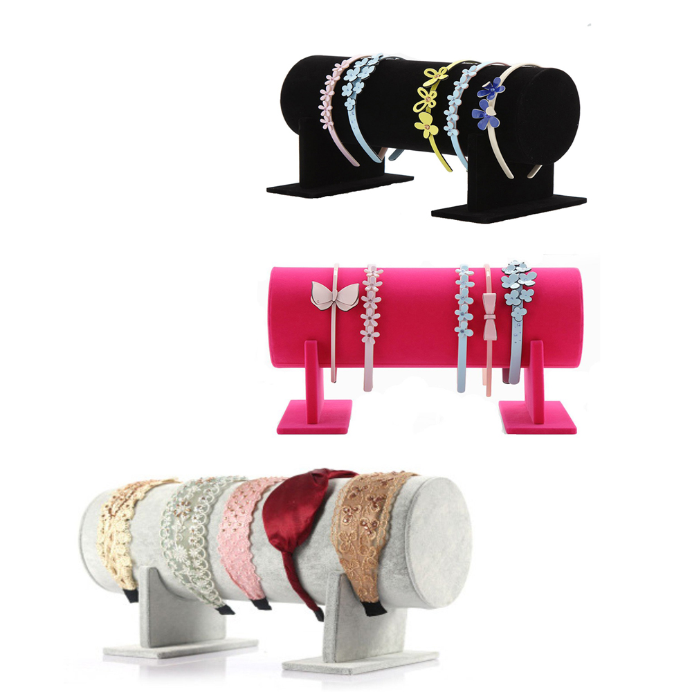 Szanbana Rack-Organizer Headband Clasp-Holder Separate Display-Stand Hair-Hoop Velvet