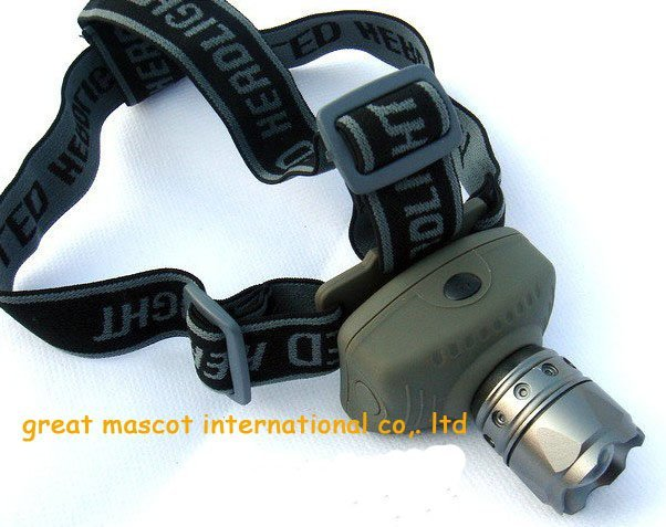 good quality ZOOM 5W  CREE LED HEAD LAMP LIGHT TORCH flashlight  adjust FOCUS