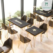Луи Мода кафе мебель Наборы западный ресторан кофе десерт магазин молочный чай стол и стул комбинация