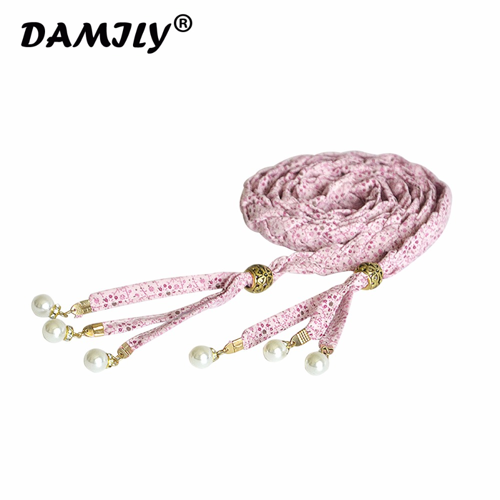 Luxury Brand Printed Hot Sell New Womens Belt New Style 4 Colors Cotton Rope Braid Belt Female Belt For Dress