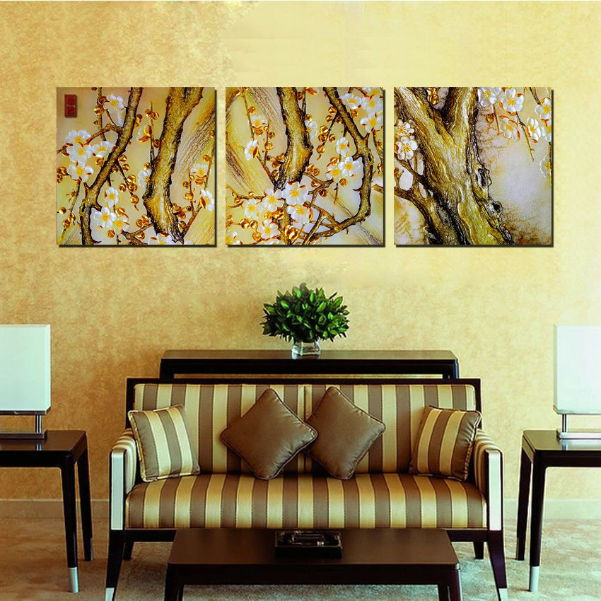 Home decoration 3 Pieces no frame art picture Canvas Prints Abstract ...