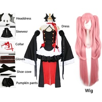Anime Cosplay Owari No Seraph Of The End Krul Tepes Wigs Lolita Dress Vampire Suit 8 Pcs Set For Halloween Carnival Party